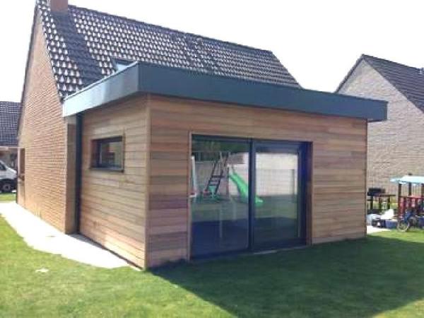prix construction garage accolé maison